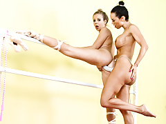 Two ballerina are doing... porn video