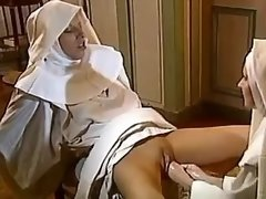 Lesbo nun gets deep double... porn video