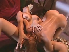 Pretty lesbians with narrow... porn video