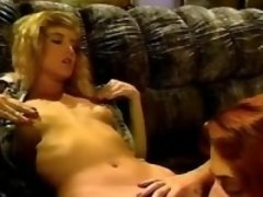 Sweet lesbians caress yummy... porn video