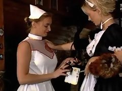 Lustful lesbo maid and... porn video