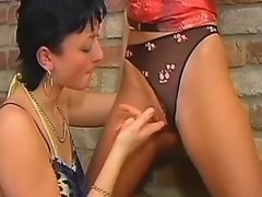 Killer brunette dildoing in... porn video