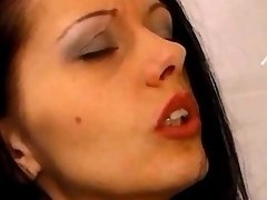 Lesbian licks wet pussy in... porn video