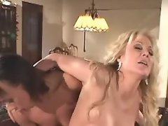 Horny exotic lesbo dildoing... porn video